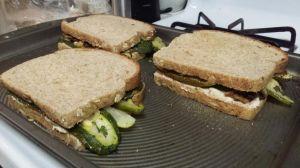 Nut Cheese Spread Sandwiches