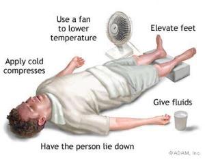 Heat ill