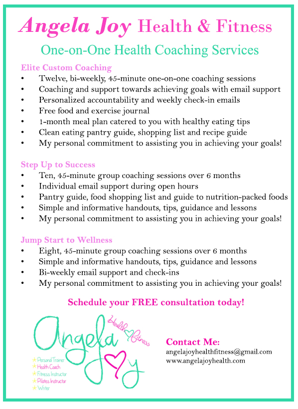 Angela Joy Health Coaching Services