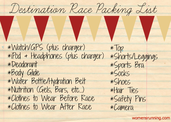 Destination-Race-Packing-List